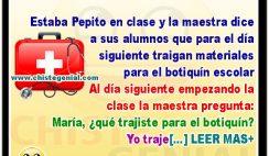 Chistes de Pepito - Materiales para el botiquín escolar