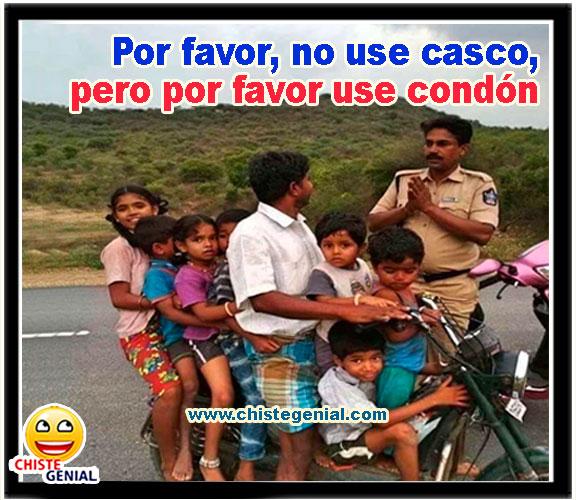 Por favor, no use casco, pero por favor use condón