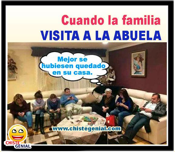 Cuando la familia visita a la abuela