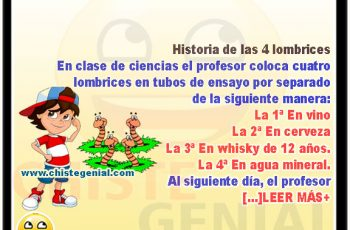 historia de las 4 lombrices