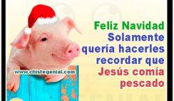 Feliz Navidad Solamente quería hacerles recordar que Jesús comía pescado