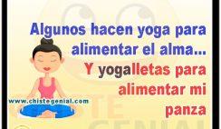 Algunos hacen yoga para alimentar el alma