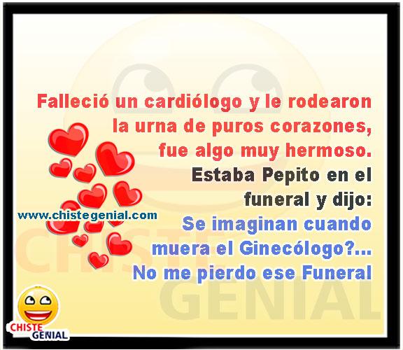 Pepito en el funeral de un cardiólogo