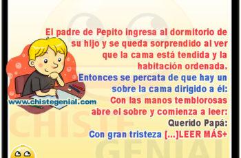 Pepito escribe una carta a su padre - Chistes de pepito