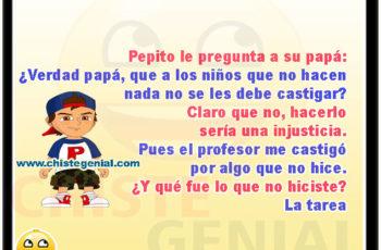 Pepito le pregunta a su papá - Chistes de pepito