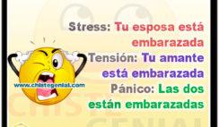 Stress, tensión y pánico - Chistes para infieles
