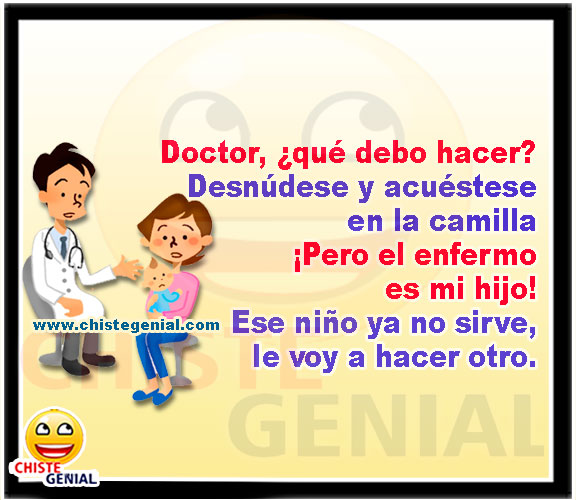 Consulta médica con el pediatra - Chistes de médicos y enfermeras