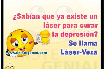 ¿Sabían que ya existe un láser para curar la depresión? - Chistes de borrachos