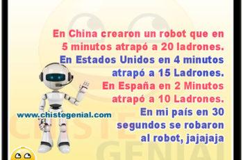 Robot atrapa ladrones - Chistes genial