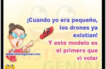 ¡Cuando yo era pequeño, los drones ya existían! Y este modelo es el primero que vi volar