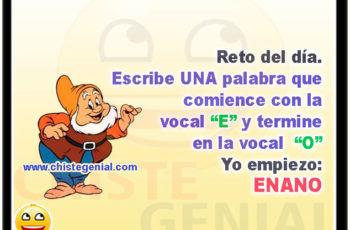 """Escribe UNA palabra que comience con la vocal """"E"""" - Acertijos y adivinanzas"""