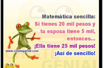 Matemática sencilla - Chistes buenos