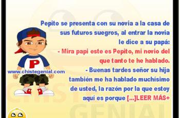 Chistes de Pepito - Pepito pide la mano a su novia