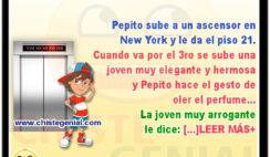 Pepito sube a un ascensor en New York - Chistes de Pepito