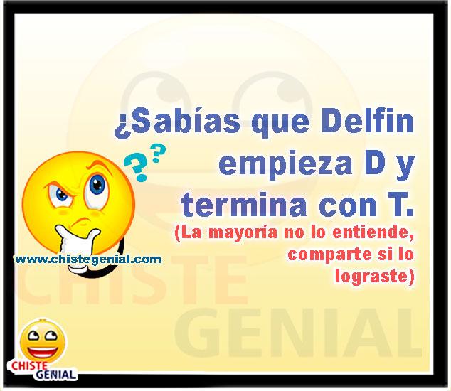 ¿Sabías que Delfin empieza D y termina con T?