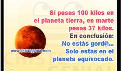 Si pesas 100 kilos en el planeta tierra - Chistes cortos