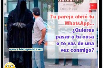 Tu pareja abrió tu WhatsApp - Chistes buenos