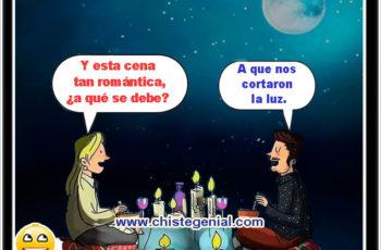 Y esta cena tan romántica,