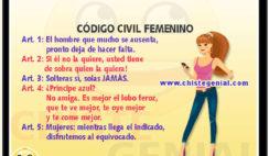 Código civil femenino - Chistes para mujeres