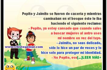 Pepito y Jaimito de Cacería en el bosque