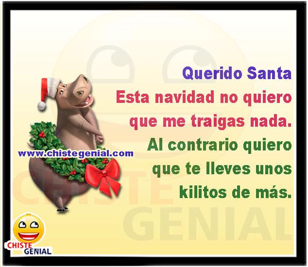 Querido Santa, esta navidad no quiero que me traigas nada.