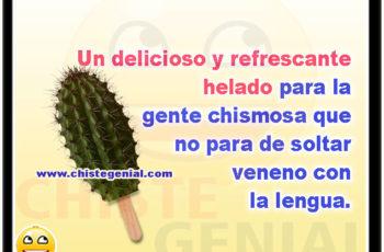 Un delicioso y refrescante helado para la gente chismosa que no para de soltar veneno con la lengua.
