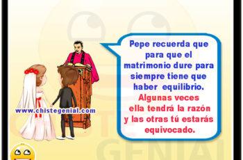 Jorge recuerda que para que el matrimonio dure para siempre tiene que haber equilibrio.