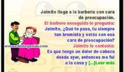 El barbero y Jaimito con dolor de cabeza - chistes de jaimito