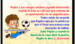 Pepito y sus amigos jugando baloncesto - Chistes de pepito