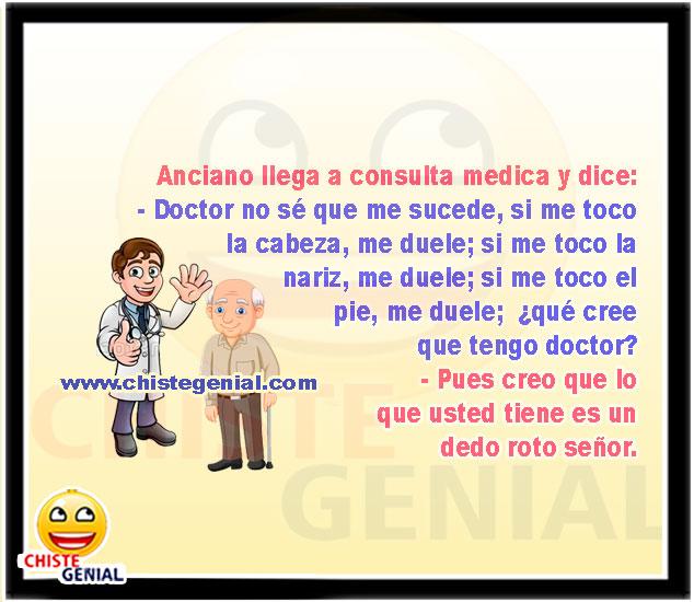 Anciano llega a consulta médica - Chistes de ancuianos