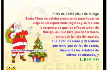 Elfos de Santa claus de huelga - Chistes navideños