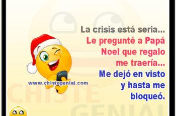 La crisis está seria - Chistes navideños