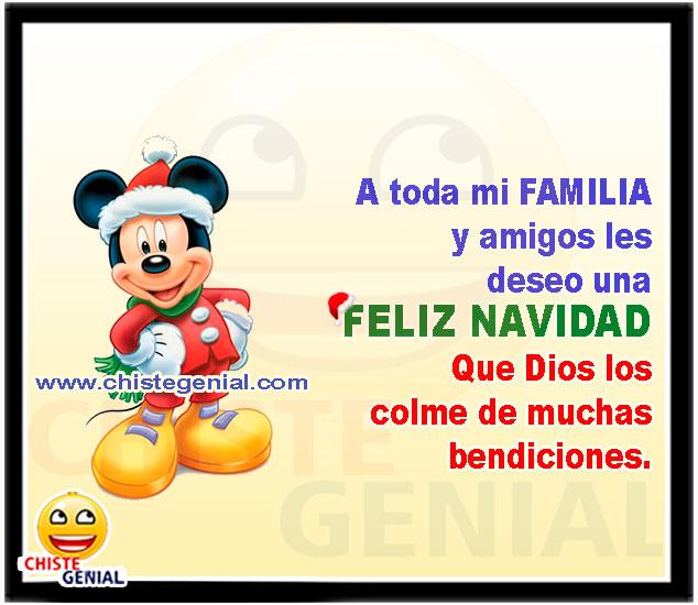 A toda mi FAMILIA y amigos les  deseo una  FELIZ NAVIDAD Que Dios los  colme de muchas  bendiciones
