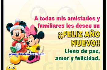 A todas mis amistades y familiares les deseo un ¡¡FELIZ AÑO NUEVO!! Lleno de paz, amor y felicidad.