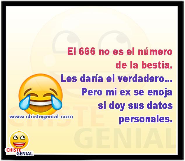 El 666 no es el número de la bestia. - Chistes cortos de parejas