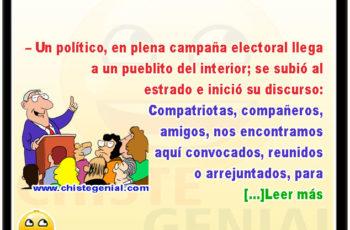 Discurso politico en campana electoral - chiste politico