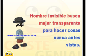 Hombre invisible busca mujer transparente para hacer cosas nunca antes vistas.