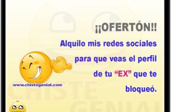 """¡¡OFERTÓN!! Alquilo mis redes sociales para que veas el perfil de tu """"EX"""" que te bloqueó."""