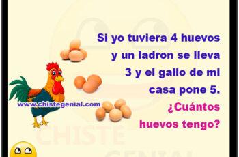 Si yo tuviera 4 huevos y un ladrón se lleva 3 y el gallo de mi casa pone 5. ¿Cuántos huevos tengo?