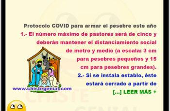 Protocolo COVID para armar el pesebre este año