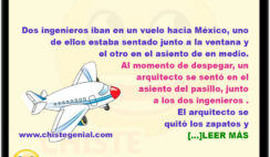 chistes buenos - Dos ingenieros y un arquitecto viajando en avión