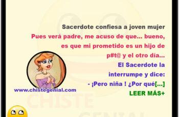 chistes - Sacerdote confiesa a joven mujer